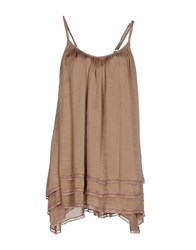 Manila Grace Dresses Short Dresses Women Camel