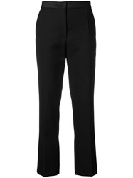 Joseph High Waisted Cropped Trousers Black