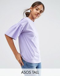 Asos Tall T Shirt With Ruffle Sleeve Pink
