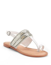 Naughty Monkey Petra Ring Toe Sandals White