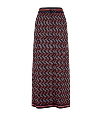 M Missoni Chevron Knit Lurex Maxi Skirt Female Multi