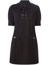 Marc By Marc Jacobs Lace Up Fastening Dress Black