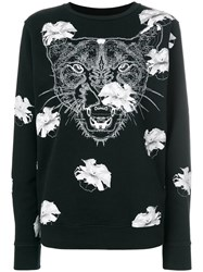 Marcelo Burlon County Of Milan Flower Puma Sweatshirt Black