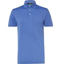 Rlx Ralph Lauren Slim Fit Stretch Jersey Golf Polo Shirt Light Blue