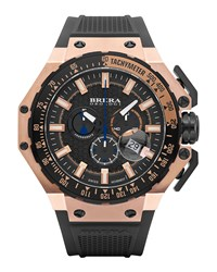 Gran Turismo Chronograph Watch Black Rose Brera Rose Gold