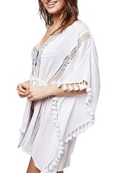 Women's Topshop Lace Detail Caftan Cover Up White