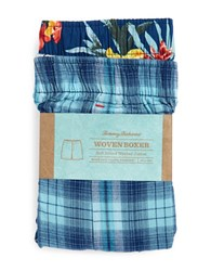 Tommy Bahama Two Pack Woven Cotton Boxers Blue