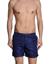 Paolo Pecora Man Swimming Trunks Dark Blue