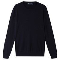 Aquascutum London Merino Crew Neck Jumper Navy