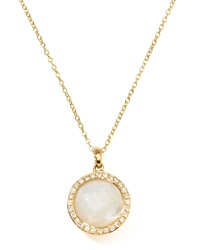 Ippolita Rock Candy 18K Gold Mini Lollipop Diamond Necklace Mother Of Pearl Mother Of Pearl