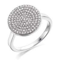 Monica Vinader Ava Diamond Disc Ring Female Silver