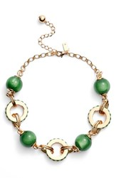 Kate Spade Women's New York Second Nature Statement Collar Necklace Green Multi
