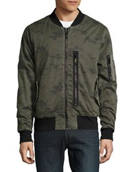 Hudson Jeans Long Sleeve Bomber Jacket Infantry Camo