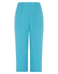 Tigi Mock Drawstring Crop Trousers Turquoise
