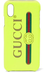 Gucci Printed Textured Iphone X Case Bright Yellow