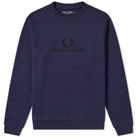 Fred Perry Embroidered Sweat Blue