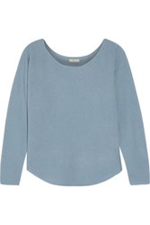 Joie Margeaux Open Knit Cashmere Sweater Light Blue