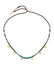 Lizzie Fortunato Simple Mother Of Pearl Turquoise And Jade Necklace Gold Multi