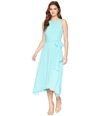 Tahari By Arthur S. Levine Asl Sleeveless Keyhole Shift Dress Aquamarine Blue