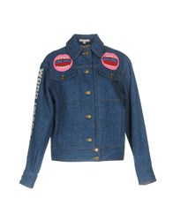 Olympia Le Tan Denim Outerwear Blue