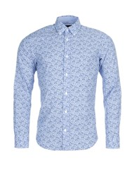 Eden Park Men's Floral Cotton Shirt Blue