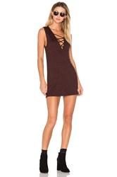 Riller And Fount Elsa Criss Cross Mini Dress Burgundy