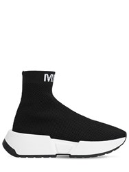 Maison Martin Margiela 50Mm Logo Knit Sock Sneakers Black