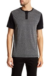Burnside Short Sleeve Henley Tee Gray