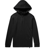 Public School Atturn Oversized Loopback Cotton Jersey Hoodie Black