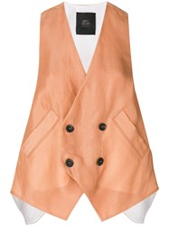 Lost And Found Ria Dunn Double Breasted Waistcoat Nude And Neutrals