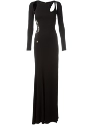 Philipp Plein Cut Out Evening Dress Black