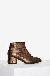 Vagabond Daisy Leather Ankle Boot Gold Bronze