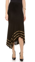 Donna Karan New York Coin Embellished Slip Skirt Black