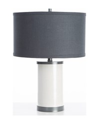 Oilo Linen Table Lamp Gun Metal Finish Gray