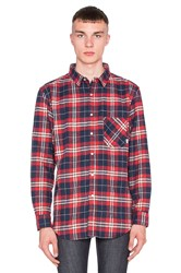 Poler Long Sleeve Button Up Red