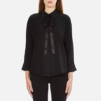 Marc Jacobs Women's Button Down Shirt With Tie Black