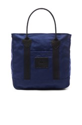Junya Watanabe Cotton Canvas Seil Marschall Tote In Blue