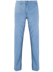 Jacob Cohen Slim Fit Chino Trousers Blue