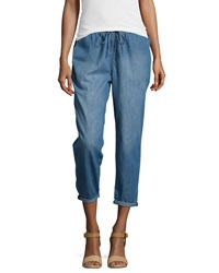 Current Elliott The Drawstring Lounge Chambray Trousers Cascade