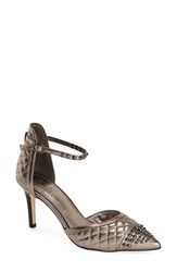 Women's Adrianna Papell 'Hope' Quilted Pump Gunmetal Leather