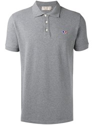 Maison Kitsune Slim Fit Polo Shirt Grey