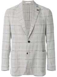 Gabriele Pasini Checked Blazer Grey