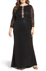 Marina Plus Size Women's Sequin Lace A Line Gown