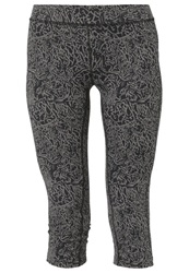 Casall 3 4 Sports Trousers Abstract Black