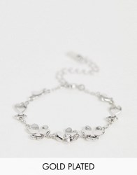 Ted Baker Hanaya Heart Flower Bracelet In Silver