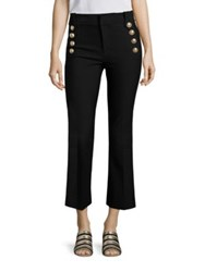 Derek Lam Cropped Flared Sailor Trousers Black