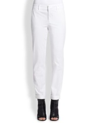 Vince Rolled Boyfriend Pants White