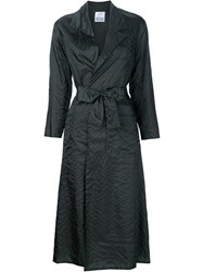 Arthur Arbesser Belted Trench Coat Black