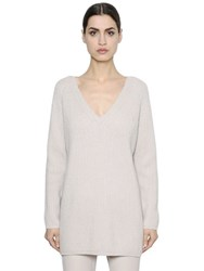 Max Mara 'S Ribbed Wool And Cashmere Long Sweater