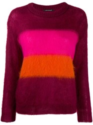 Luisa Cerano Striped Knit Jumper Purple